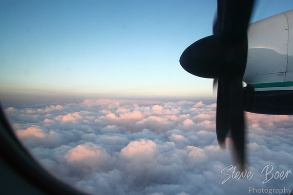 Sunrise at 30,000 feet