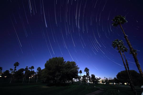 Star Trail Comet Effect