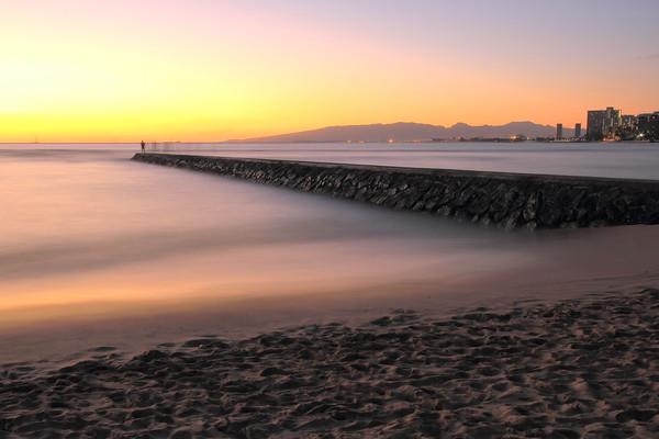 Waikiki Pier Sunset