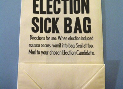 election sick bag
