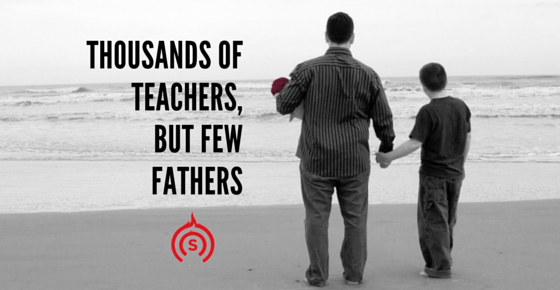 Thousands of Teachers, but Few Fathers
