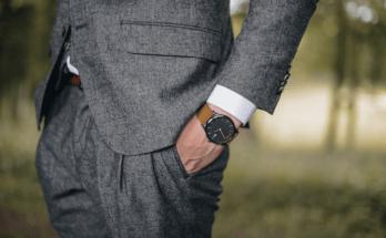 a stylish man wearing a watch