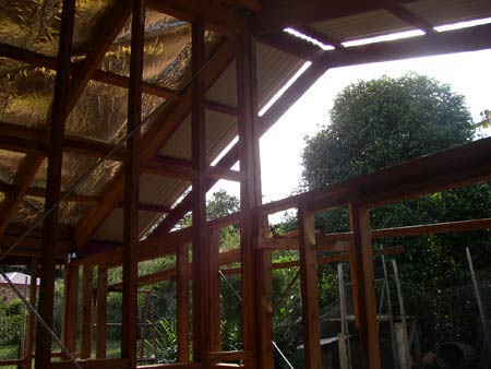 Extension roofed