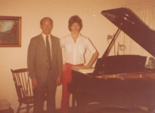 First piano recital, with dad, 1983