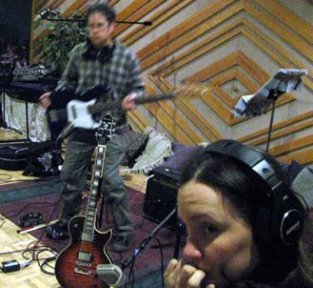"""Recording session for """"Swoop to the Tonic"""", at Pus Cavern Studios, Sacramento"""