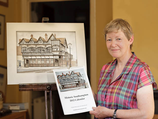 Proud Historian And Artist Showing Off Her Recent Local Watercolour Calendar