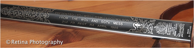 Engraved British Army Officers Sword