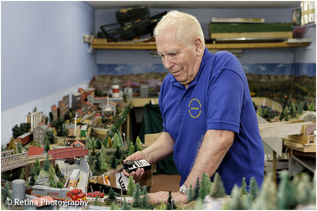 Model Train Enthusiast Portrait