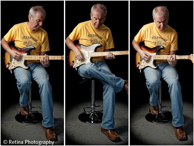 Guitar Player On Stool