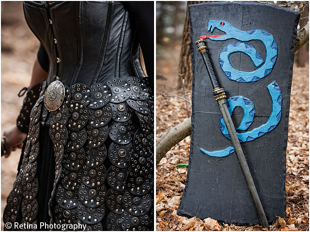 Live Action Role Play Larp Female Warrior Clothing and Weapons