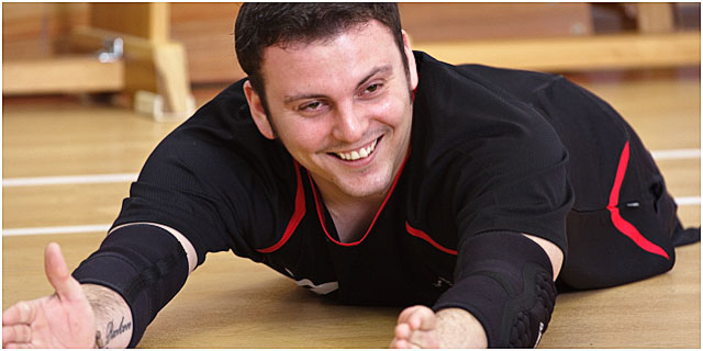 Portsmouth Sitting Volleyball Player During Training Session