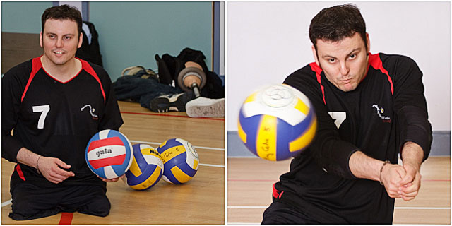Portsmouth Sitting Volleyball Player Training