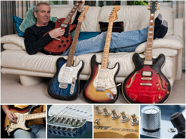 Weekend Passions Guitar Collector Editorial Montage