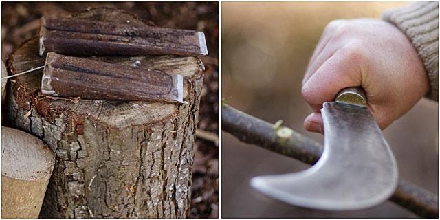 Woodsmans Metal Wedges And Trimming Blade