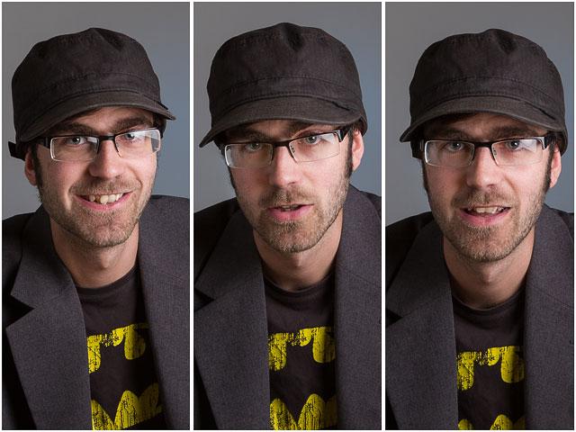 Mutiple Headshot Of SDFF Podcast Member Steve During Studio Photo Session