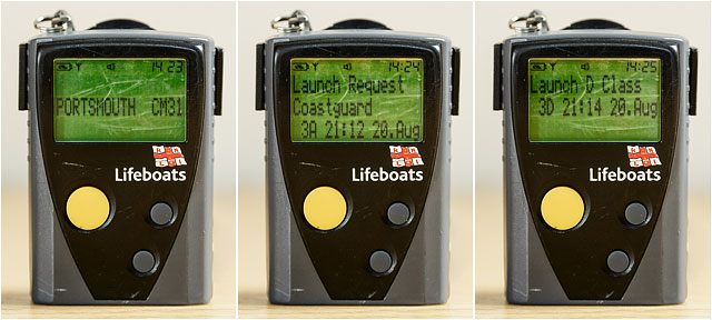 RNLI Volunteer Crew Pager Showing Call to Action