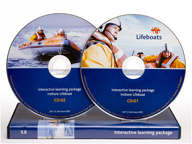 Two RNLI Interactive Learning Package CDs on Display Case