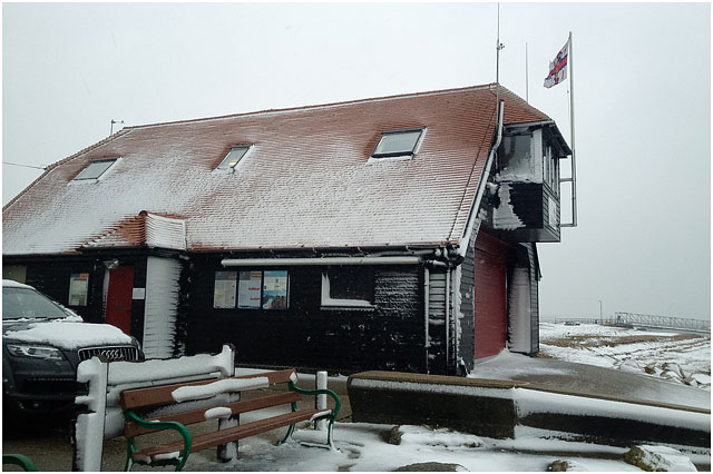 Outside View of Portsmouth RNLI station in Winter