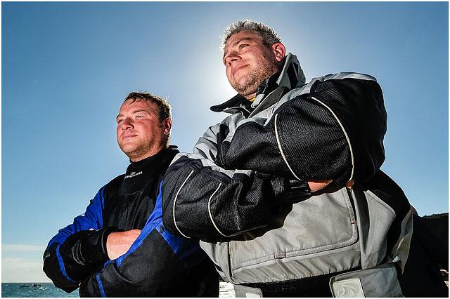 Backlit Portrait Of Portsmouth Zapcat Racing Team