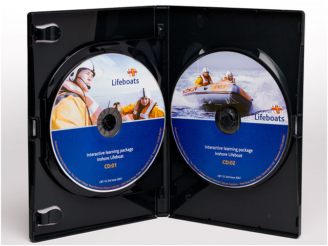RNLI Interactive Learning Package CDs In Black Plastic Case for Inshore Lifeboat Crew Training