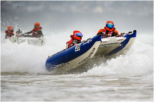 Zapcat Powerboat Racing In Choppy Sea