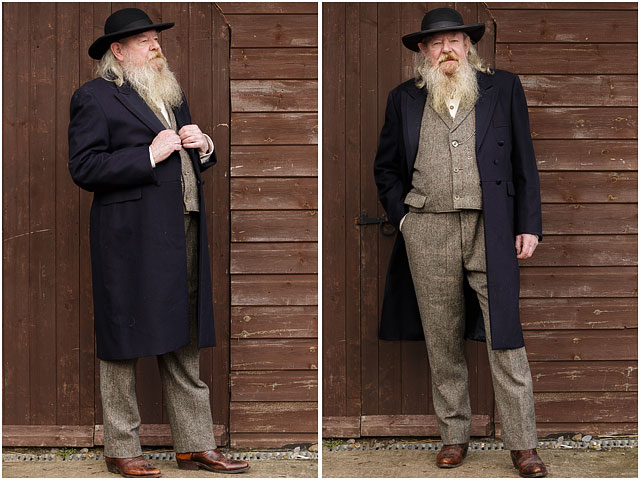 Two Full Length Portraits Of Man Dressed As A Preacher For A Wild West Show