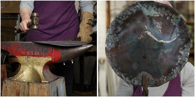 Student At Work In Blacksmiths Workshop