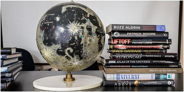 Astronomy Books Moon Globe