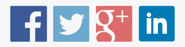twitter facebook google+ linkedin social media icons
