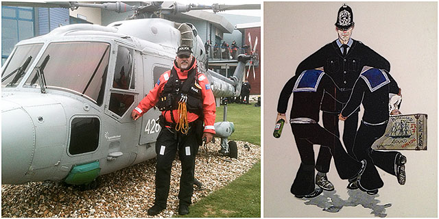 Hampshire Constabulary Training Helicopter Illustration