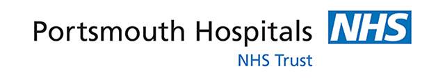 Portsmouth hospitals NHS trust logo on white background