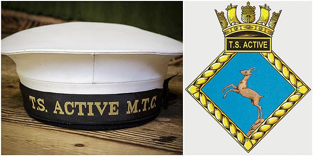 Training Ship Active Cap and TS Active Logo