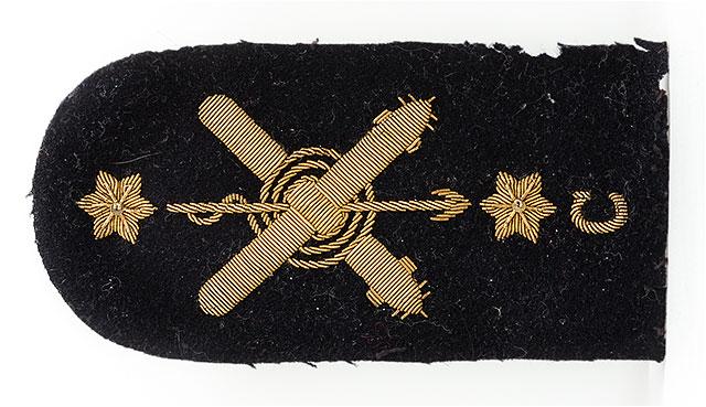 Royal Navy seamans cloth uniform sonar badge