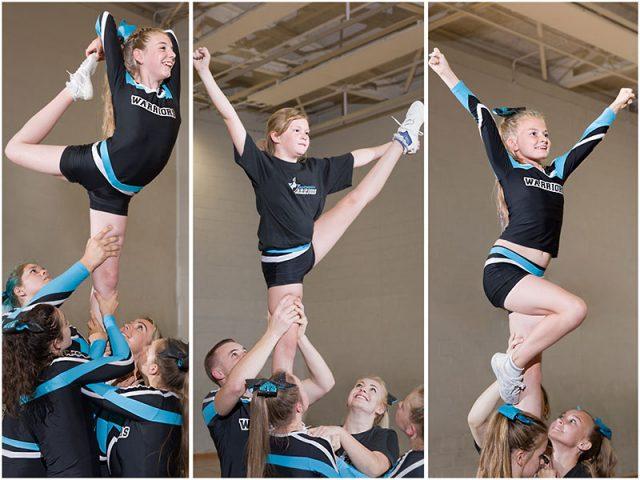 warrior cheerleaders individual stretches