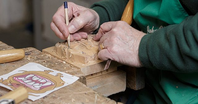 marking up a carving