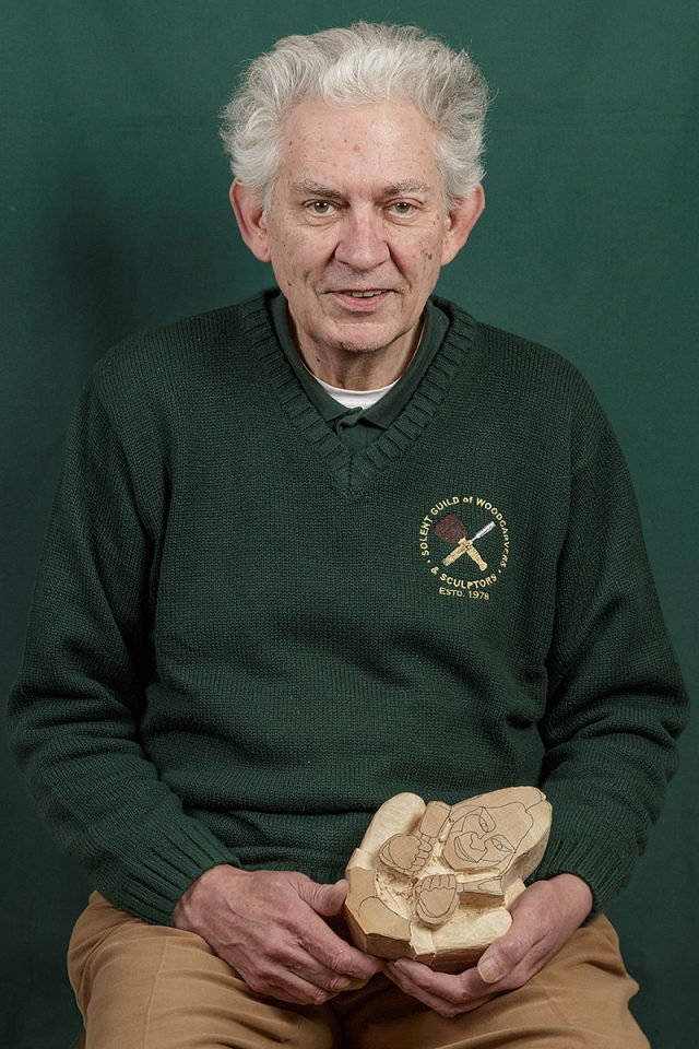 portrait of Philip Haskell a member of the solent guild of woodcarvers and sculptors