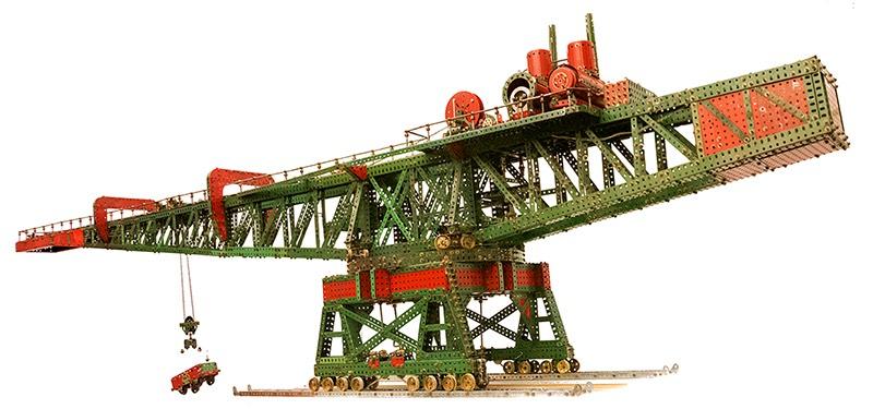 Fives Lille block setter Meccano crane