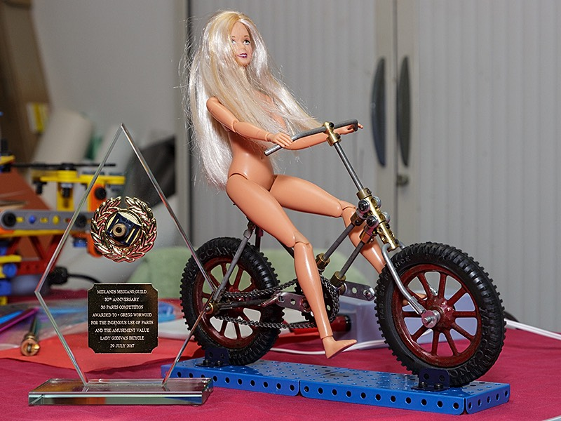 Mecano model made with 50 parts award to Greg Wormwood