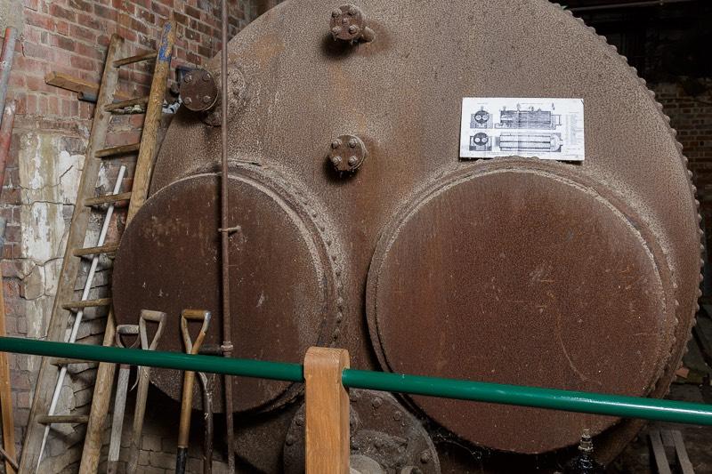 Lancashire steam boiler