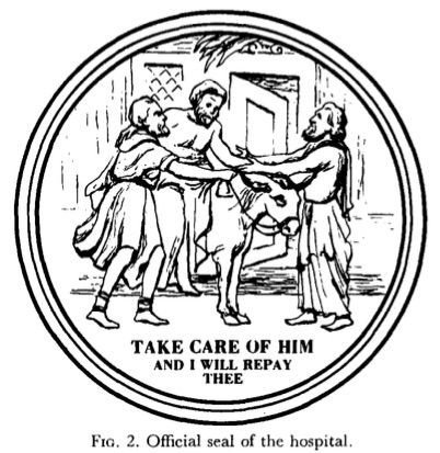 Seal of the Good Samaritan for Philadelphia Hospital