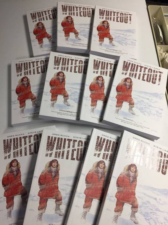 Whiteout Compendium by Greg Rucka and Steve Lieber, published by Oni Press.