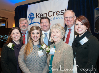 Area Supercentenarian Representatives Meet, Mix & Mingle at KenCrest's 110th Anniversary Kick-off...(Rear, L-R) KenCrest Services Executive Director, Jim McFalls, Scott McCloskey, Lincoln Financial Group-Radnor, KenCrest Centers Executive Director, Bill Nolan (Front, L-R) Coleen Foltz, YMCA - Philadelphia, Allison Dilley, Nordstrom-King of Prussia, Paula Kadel, Rotary International, Ambler and Stephanie Britten, National Audubon Society, Audubon.