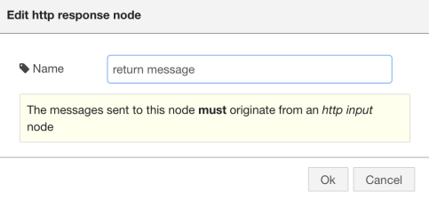 HTTP Response Node