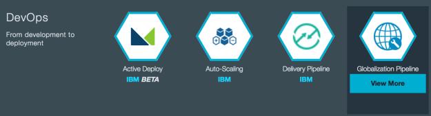 Bluemix Service Catalog