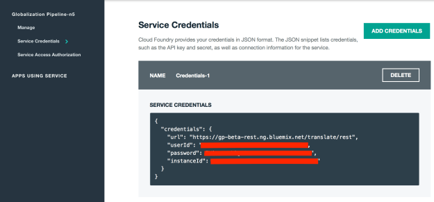 Unbound Service Credentials