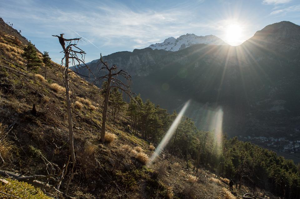 hautes alpes sunset