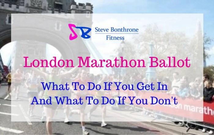 London Marathon Ballot - Steve Bonthrone Fitness
