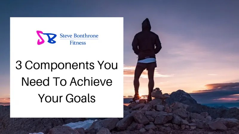 3 Components You Need To Achieve Your Goals - Steve Bonthrone