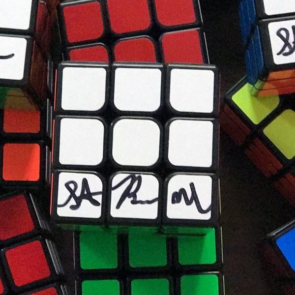 Steven Brundage Autographed Speed Cube