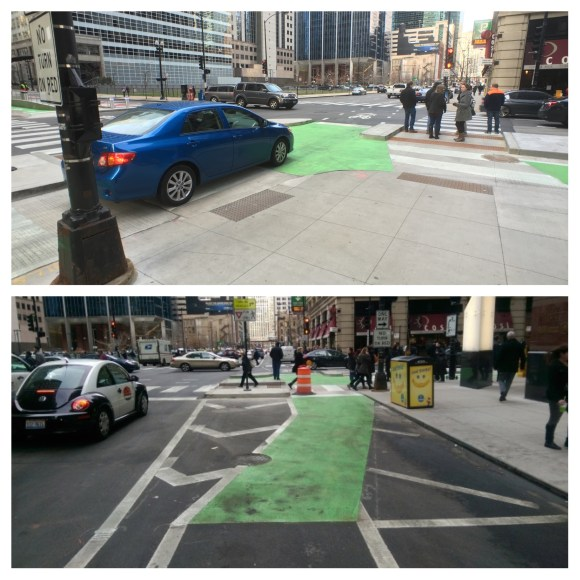 frankling at washington bike lane (composite image)